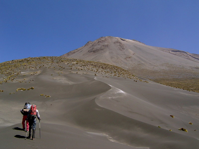 The hump up to El Misti, a volcano near Arequipa.