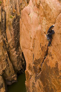 Rock Climbing Photo: The fingers/thin hand finish. Photo by: Frosty Wel...