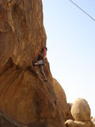 Rock Climbing Photo: Heather starting the sweet traverse of Existence D...