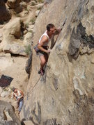 Rock Climbing Photo: Mike Williams working his way through the sustaine...