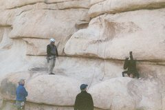 Rock Climbing Photo: That's using your head!