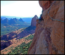 Rock Climbing Photo: Following the 5th pitch of Arch Enemy. Although th...