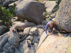 Rock Climbing Photo: Katherine Chumacero likin' the end of the day warm...