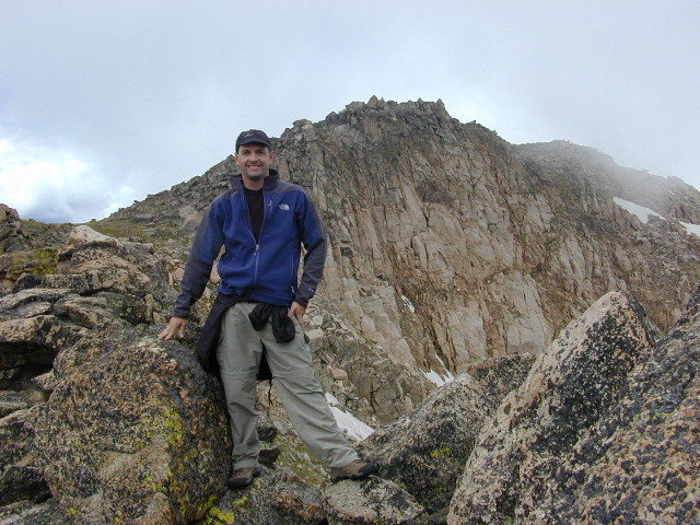 Rock Climbing Photo: Near the Indian Peak Devil's Thumb on a cold day.