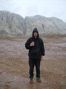 Rock Climbing Photo: Drinking Tecate in the rain in the San Rafael Swel...