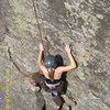 Second pitch of Arch to Wrist, 5.6 - The Gunks
