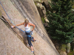 Rock Climbing Photo: Tara Reed on pitch one... sweet.