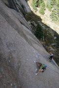 Rock Climbing Photo: Slabbin'.