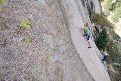 Rock Climbing Photo: Slippery...
