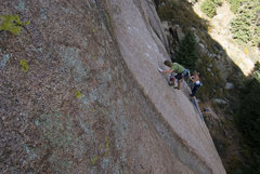 Rock Climbing Photo: Mid flight!