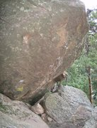 Rock Climbing Photo: Butt Slammer goes up the middle of the wall, start...