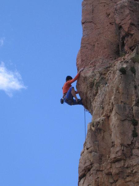 Rock Climbing Photo: Unknown climber on Funkdamental (5.11b)