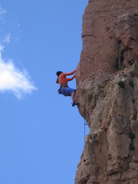 Climber on Funkdamental (5.11b)