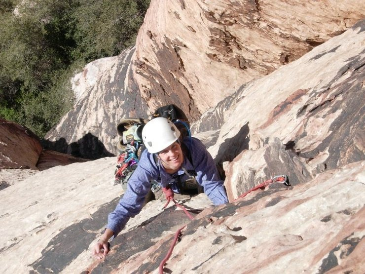 Pitch 2 of Olive Oil (5.7), Red Rock Canyon, NV