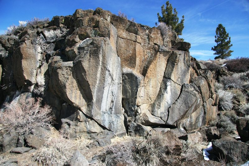 One of the bouldering sections in The Ravine