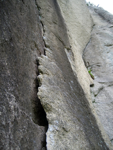 Rock Climbing Photo: 17 May 2008 photo of the high traverse.  After hea...