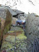 Rock Climbing Photo: Joe is following the final fun chimney section on ...