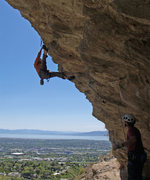 Rock Climbing Photo: Perin Blanchard in the quintessential Simple Simon...