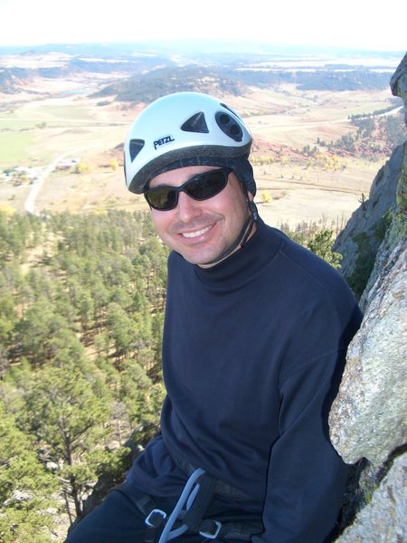 Rock Climbing Photo: Halfway up Devil's Tower.