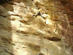 Rock Climbing Photo: Ascentuality (5.11a), a nice mixed route at the St...