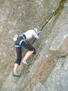 Rock Climbing Photo: Michelle using more moss than rock.