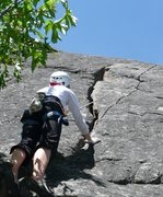Rock Climbing Photo: Michelle about to get into the hand crack.