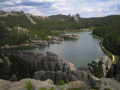 Rock Climbing Photo: The view of Sylvan Lake from the summit of the Inn...