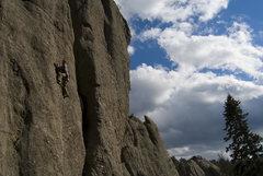 Rock Climbing Photo: Keen Butterworth - Bronchial Distress (5.10d)