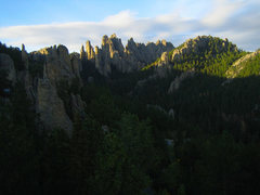 Rock Climbing Photo: The view into the Cathedral Spires from the summit...