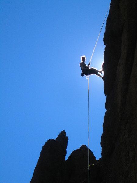 Rock Climbing Photo: Katherine Chumacero - rap off Rubiyat Spire, 5.8 C...