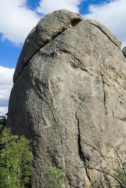 Rock Climbing Photo: Keen Butterworth through the hard stuff... Mr. Cri...