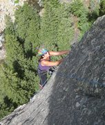 Rock Climbing Photo: Boulder Canyon, Tonnere Tower, Buried Alive variat...