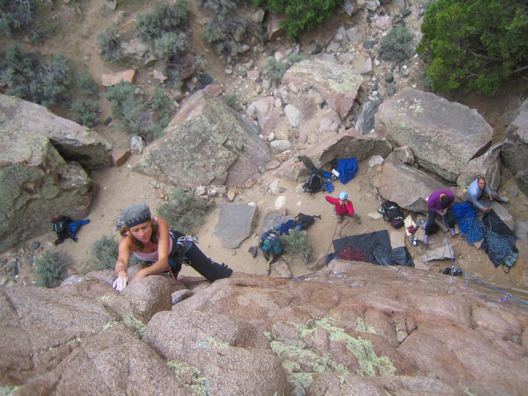Katherine Chumacero on Slippery Avacado - 5.10a