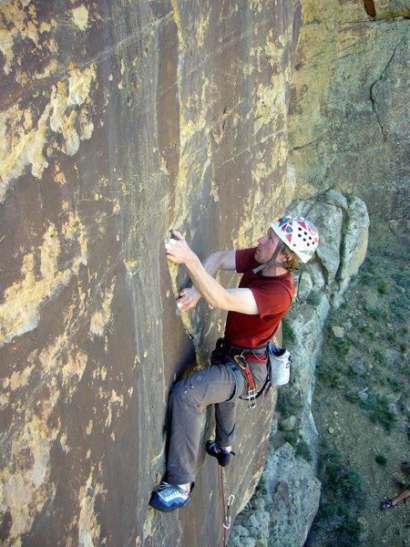 Rock Climbing Photo: Alex midway up TCT.  Photo by Kim Caovan