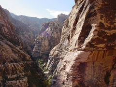 Rock Climbing Photo: Pine Creek Canyon from 2nd pitch.