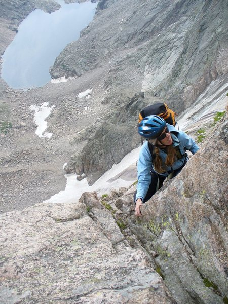 Rock Climbing Photo: Soloing upper Kiener's