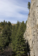 Rock Climbing Photo: The upper crux of Sargasso Sea - 12a
