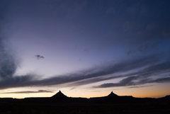 Rock Climbing Photo: The Six Shooter sunset.