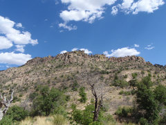 Rock Climbing Photo: Boot Hill as seen from the fire break.