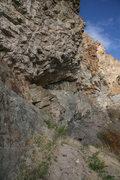 Rock Climbing Photo: Super Bowl Wall  Yeah, it's a bit overhanging.