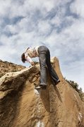 Rock Climbing Photo: Amber toping out something on the UMWA boulder... ...