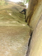Rock Climbing Photo: Looking up this Stellar crack..