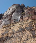 Rock Climbing Photo: Climbers reaching the belay at the base of pitch 3...