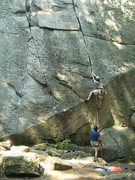 Rock Climbing Photo: Unknown climber on a very hot day in August, 2007.