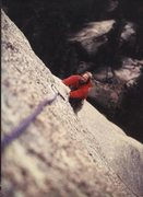 Rock Climbing Photo: Jay pulling the crux of The Infidel.