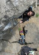 Rock Climbing Photo: Jakob clipping on Short Wave...