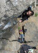 Rock Climbing Photo: Jakob clipping on Short Wave...