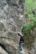 Rock Climbing Photo: looking down at jakob as he starts up...
