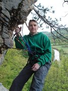 Rock Climbing Photo: on top of barking spiders at rumney with the baker...