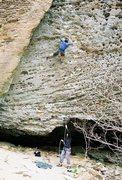 Rock Climbing Photo: Jamie working his way through Up Yonder.